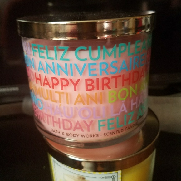 3 Wick Happy Birthday Candle
